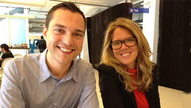 Nathan with Lisa Dubost of Airbnb