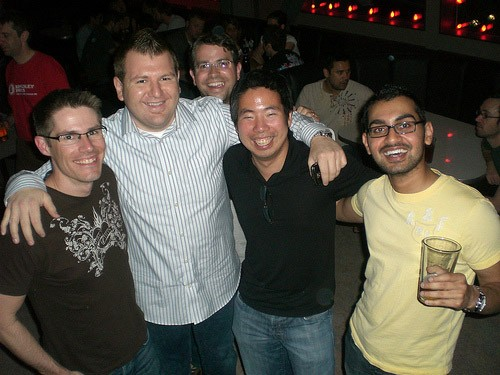 Neil with Jon, Tony and Andy at SEOmoz's Annual Party