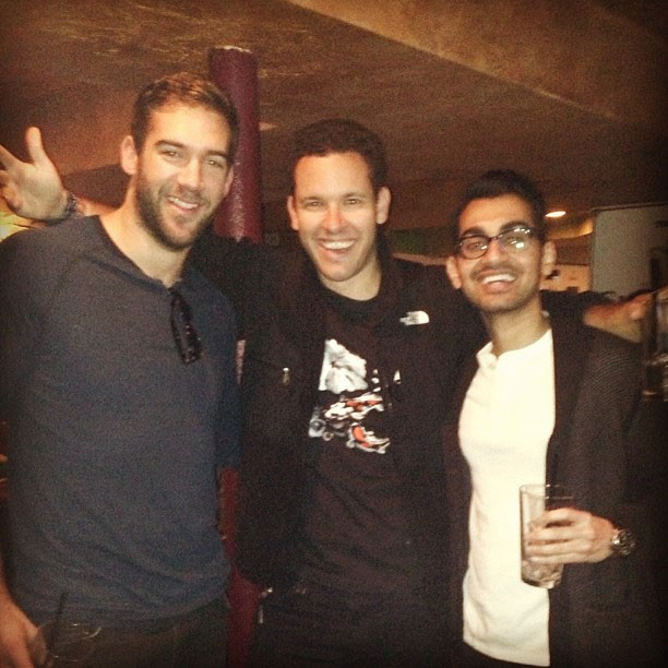 Neil Patel with Tim Sykes and Lewis Howes at Sudance Film Festival
