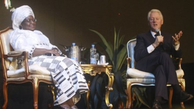 Nigerian Minister of Finance, Ngozi Okonjo-Iweala With U.S. Former President Bill Clinton