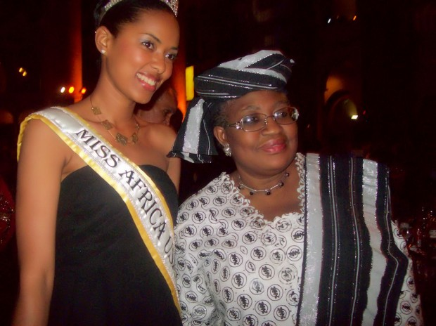 Dr. Ngozi Okonjo-Iweala, Managing Director of the World Bank With Miss Africa Fifi Soumah