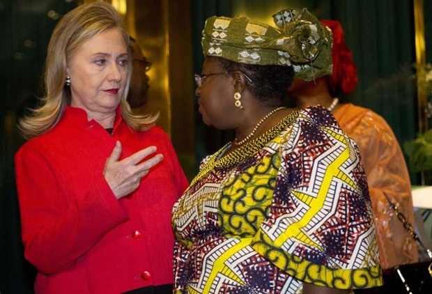 Ngozi Okonjo-Iweala With U.S. Secretary of State Hillary Clinton