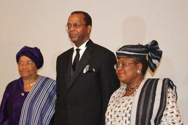 Ngozi Okonjo-Iweala With Liberia's President Ellen Johnson Sirleaf