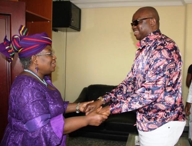Ngozi Okonjo-Iweala With Ekiti State Governor Ayodele Fayose