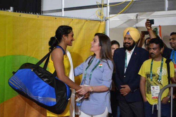 Nita Ambani appreciates Sindhu after her semifinal victory in Rio Olympics