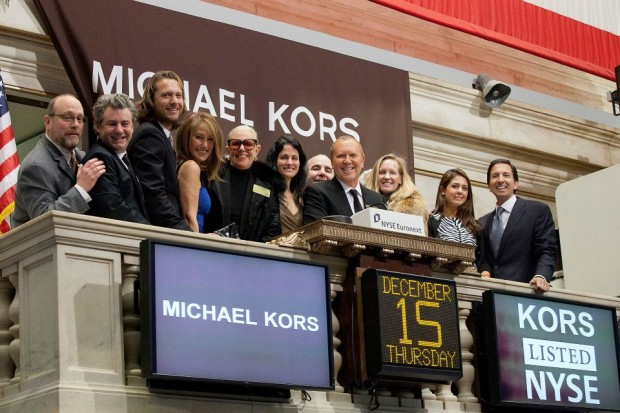 Michael Kors at New York's Stock Exchange