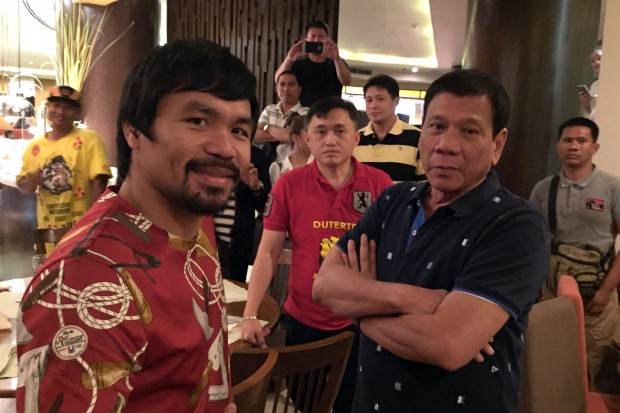 Rodrigo with Boxer Manny Pacquiao