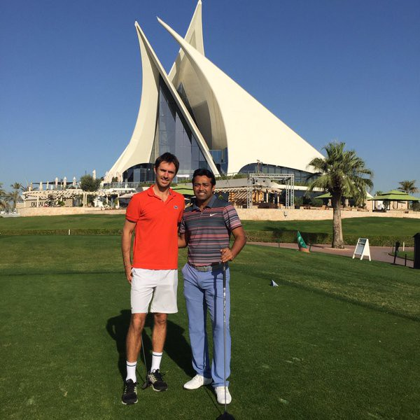 Edouard Roger Vasselin and Leander Paes had some golf