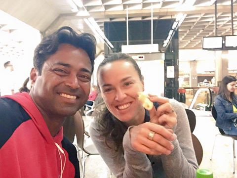Leander Paes and Martina Hingis at Rio Olympics