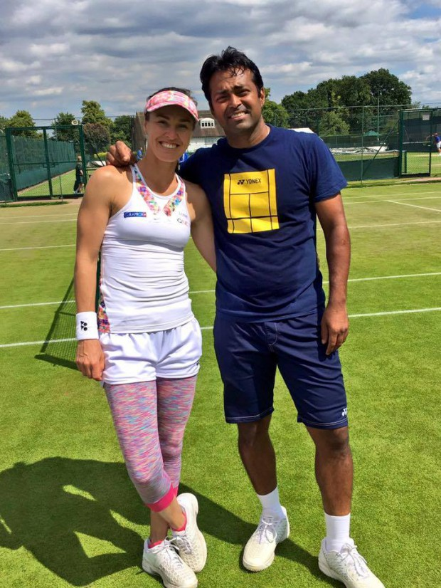 Paes and Hingis at Wimbledon