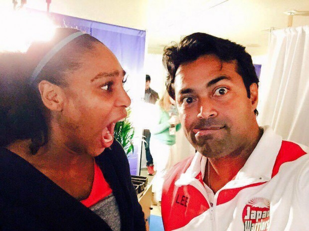 Serena Williams and Leander Paes