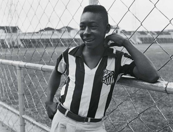 Pele on his first with SFC in 1956