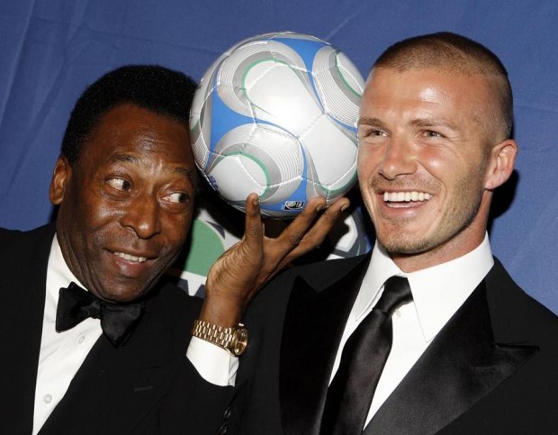 David Beckham with The King of Football Pele