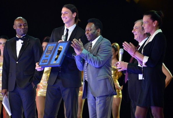 Zlatan Ibrahimovic received Golden Foot award From Pele