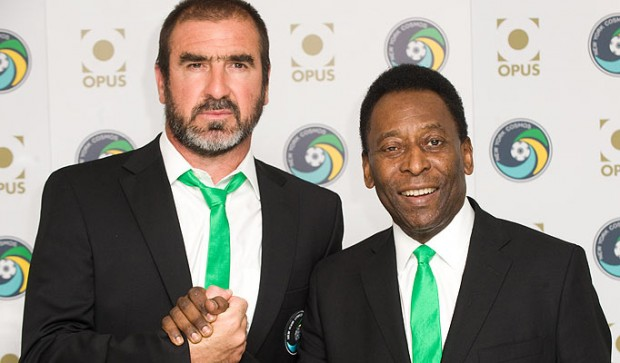 Eric Cantona and Pele