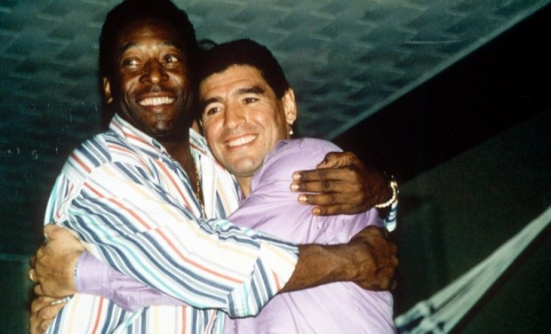 Soccer Legends Pele and Maradona