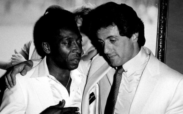 Sylvester Stallone and Pele