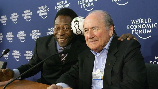 Pele with Sepp Blatter