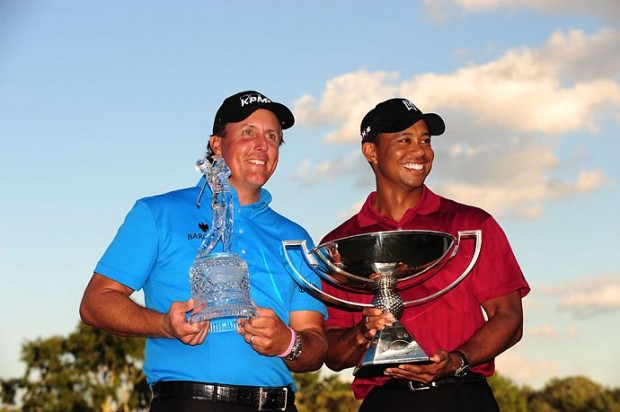 Phil and Woods with their trophies