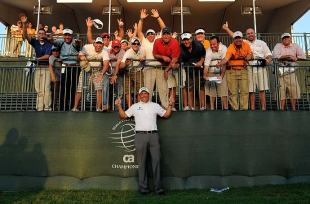 Phil After Winning World Golf Championship