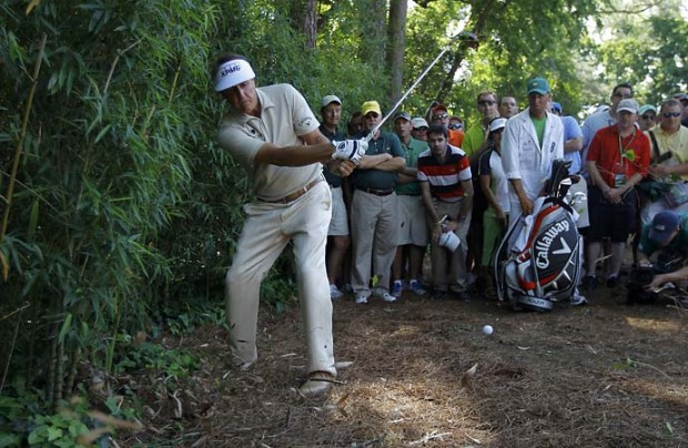 Phil Mickelson in the action