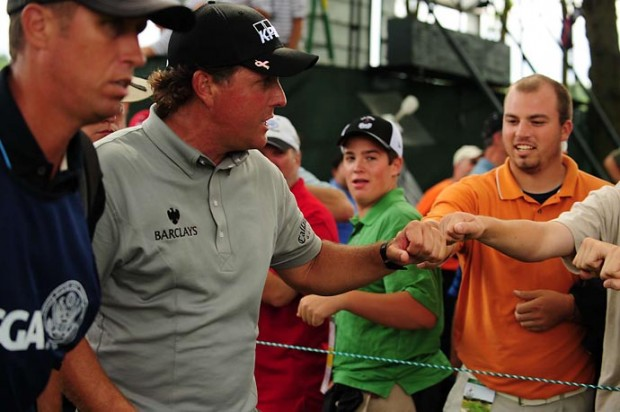 Phil with His Fans
