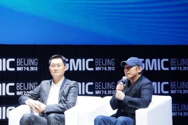 Pony Ma with Actor Jet Li
