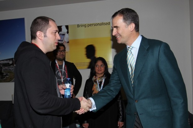 Whatsapp Founder Jan Koum Greeting Prince Asturias