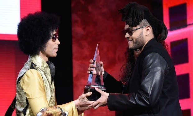 Prince Presenting Award to The Weekend