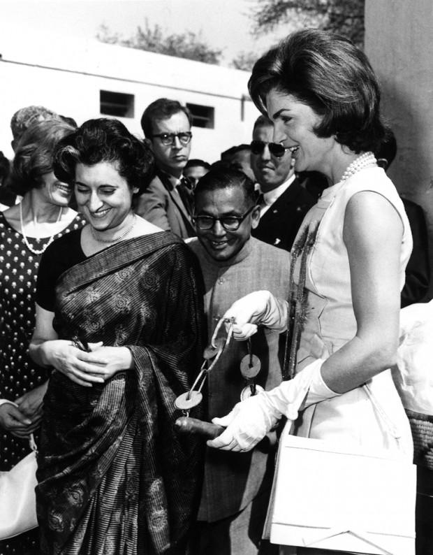 Indira Gandhi with Jacqueline Kennedy