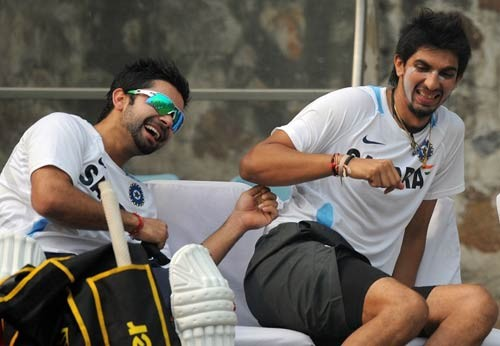 Virat Kohli with Ishant Sharma