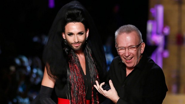 Conchita Wurst  With Jean Paul Gaultier.