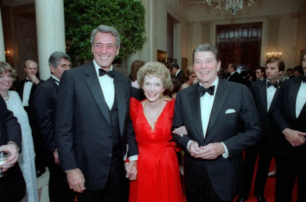 At A White House state dinner, May 1984