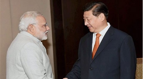Narendra Modi with President of China Xi Jinping