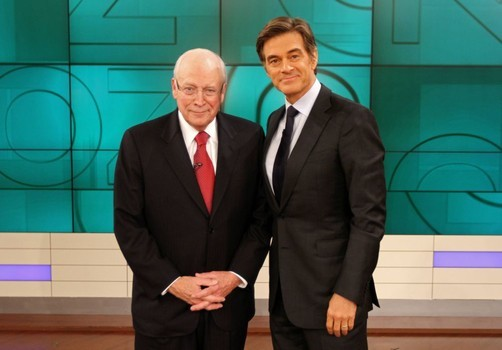 Dick Cheney visits with Dr. Oz