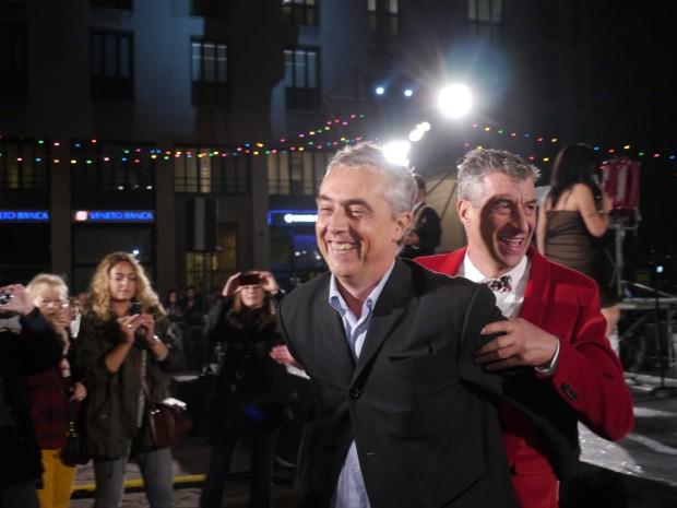 Maurizio Cattelan scherza Jokes with Stefano Boeri