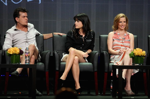Selma Blair, Charlie Sheen with Shawnee Smith
