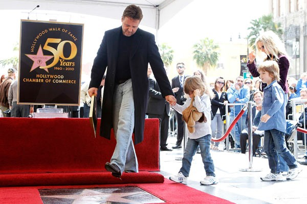 Russell Crowe at Hollywood Walk of Fame