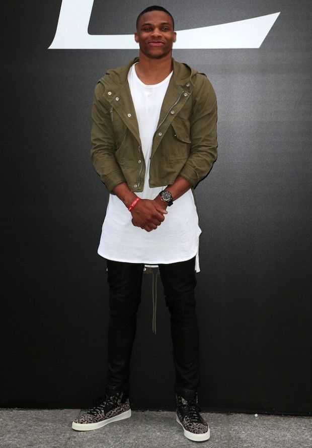 Russell Westbrook at Paris Fashion Week 2015