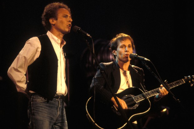Paul Simon And Art Garfunkel At Concert In Central Park In New York