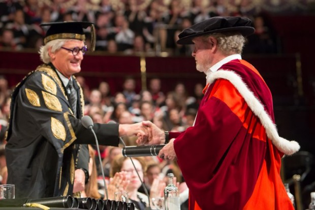 ir Ridley Scott Receives his Honorary Doctorate from Provost Sir James Dyson