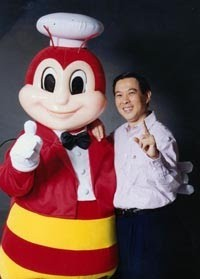 Tony Tan with His Jollibee
