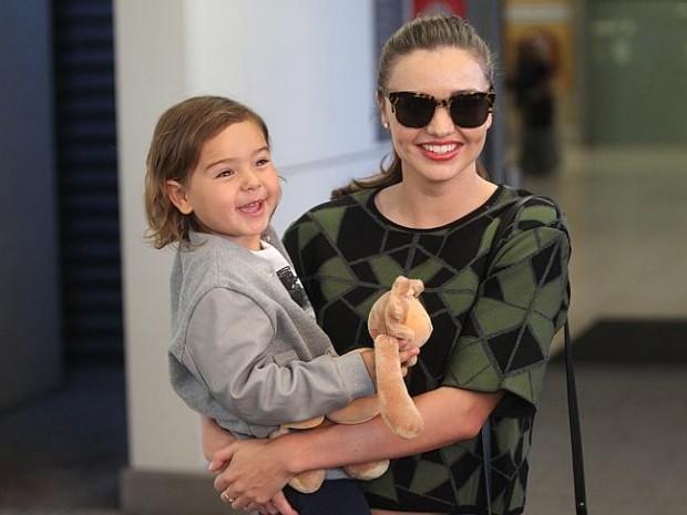 Miranda Kerr with her son Flynn Christopher Bloom