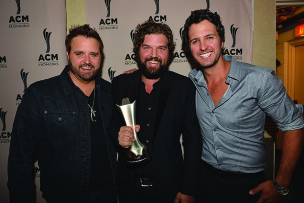 Randy Houser, Dallas Davidson and Luke Bryan