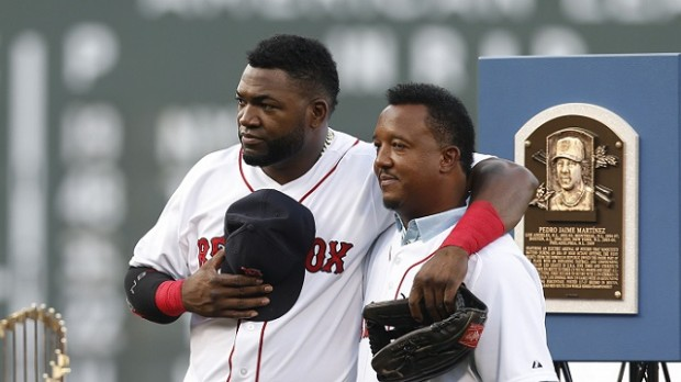 Pedro Martinez with David Ortiz