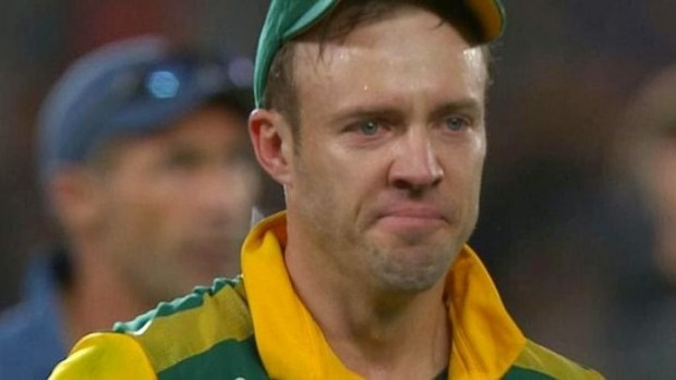 Disappointed ABD after His Team Lost in Worlcup 2015 Semi Finals