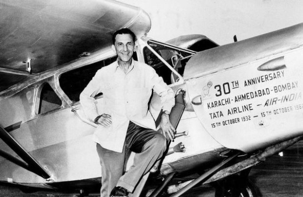 J.R.D. Tata On Anniversary of Tata Air Lines