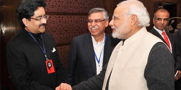 Kumar Mangalam Birla With Narendra Modi