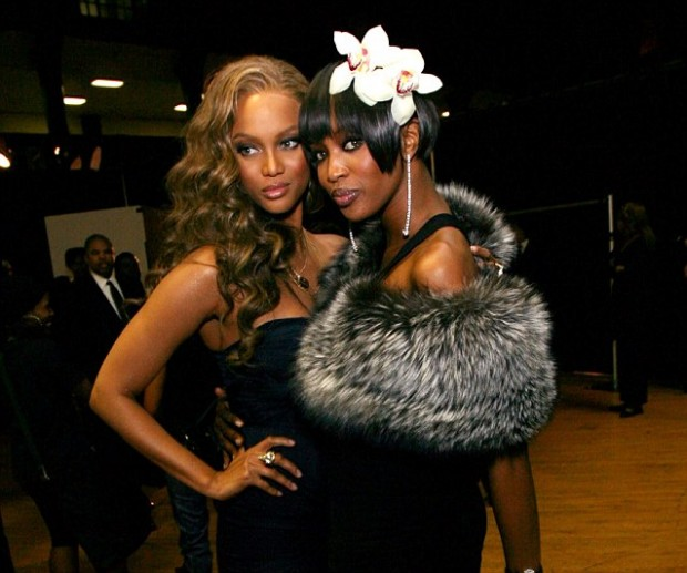 Tyra Banks With Her Co Super Model