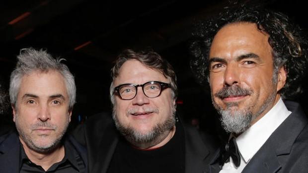 Alejandro González Iñárritu With Alfonso Cuarón, Guillermo del Toro